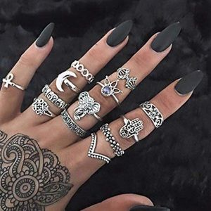 Jewelry - 🆕 Set of 13 Boho Chic Midi Knuckle Rings